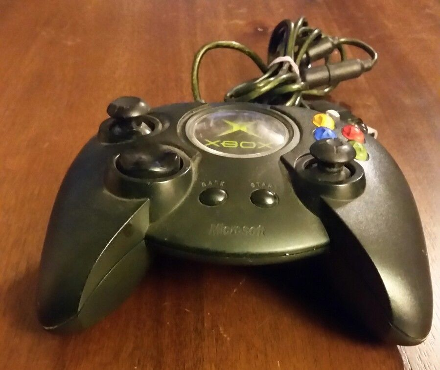 XBOX Original Microsoft  Black Wired Duke Fat Boy Controller X08-17160 FREE SHIP