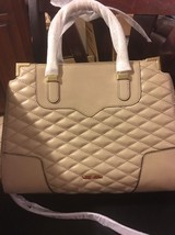 New Tags Rebecca Minkoff Quilted Amorous Satchel Purse Bag Khaki $345 - $193.50