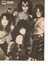 Kiss teen magazine pinup clipping Vintage 1980's Make Up Rockline Shirtless