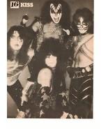 Kiss teen magazine pinup clipping Vintage 1980's Make Up Rockline Shirtless - $3.50