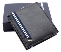 Nautica Men's Genuine Leather Credit Card ID Double Billfold Passcase Wallet image 9