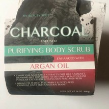 The Beauty Spot Charcoal Infused Purifying Body Scrub With Argan Oil 14... - $21.77