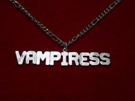 COOL Gothic Female Vampire Vampiress Pendant Charm Sterling Silver 925 J... - $23.14