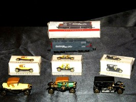 Miniature antique Cars and Locomotive  AA19-1512 image 1