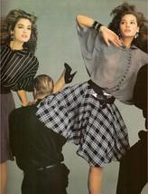1987 Cindy Crawford Christy Turlington Gianni Versace Vintage Print Ad 1... - $7.92