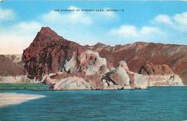 Linen Postcard NV C125 The Pyramid at Pyramid Lake Nevada Cancel 1943 - $7.00
