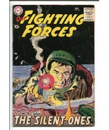 OUR FIGHTING FORCES #40-1958-DC-JOE KUBERT-BLACK COVER-GUN FIGHT-vg+ - $76.98