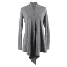 Hello Mello Flyaway Open Cut Long Sleeve Cardigan-Medium Gray - $29.99