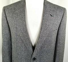 Bert Pulitzer Silk Sport Coat Mens Size 42 Long 2 Button Gray Black Whit... - $38.77