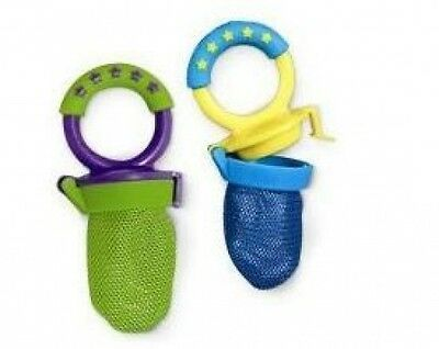 Primary image for Baby Fruit Vegetables Meat Food Feeder Feeding Mesh Juicer Bag Pacifier Set NEW