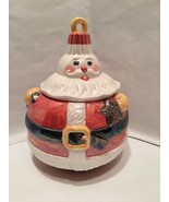 Cookie Jar Department 56 Round Santa Claus Shape of Christmas Ornament C... - $10.99