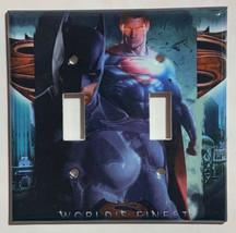 Superman & Batman Light Switch Power Duplex Outlet Wall Cover Plate Home decor image 4