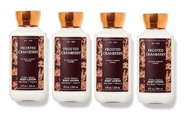 Bath & Body Works Frosted Cranberry Shea & Vitamin E Body Lotion 8 oz x4 - $39.99