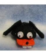 DOLLHOUSE Black Dog Fun Hat By Barb Teeth Googly Eyes Miniature - $12.35