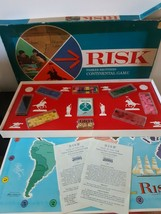 Vintage Risk 1968 Board Game Parker Brothers Wooden Pieces 100% Complete - $29.65