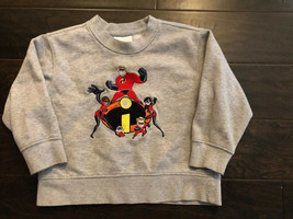 The Incredibles Kids XXS 2/3 Sweatshirt Disney Store Exclusive Embroidered - $8.99