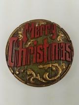 Hallmark Christmas Round Magnet Merry Christmas - $9.65