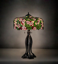 Tiffany Style Table Lamp for Living Room w Cherry Blossom Lamp Shade - $2,322.54