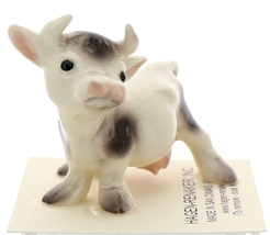 Hagen-Renaker Miniature Ceramic Cow Figurine Spotted Mama and Baby Calf image 10