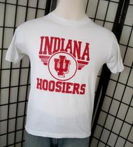 Indiana Hoosers IU Screen Stars 50/50 white adult tee shirt large l USA - $19.95