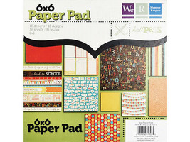 We R Memory Keepers 6x6 Inch Hall Pass Paper Pad #61707-5