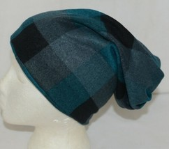 Howards Arianna Collection Buffalo Plaid Convertible Hat Adult Teal Black image 2