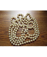 Vintage 56 inch String of Pearls Without Clasp - $40.00