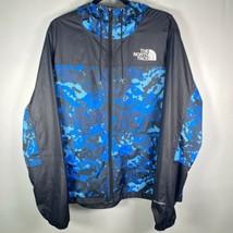 The North Face Men's Sz Large Windfall Jacket Camo Black Blue Winbreaker - $37.22