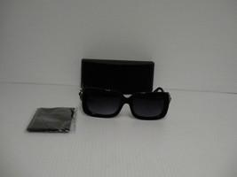 Womens PRADA new sunglasses spr 33ps square black frame with stones beautiful - $247.45