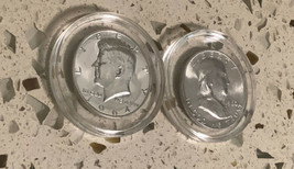 1964 Kennedy Silver Half Dollar GEM BU Plus A 1960 Benjamin Half Dollar.... - $31.93