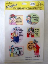Vintage Hallmark Maxine 4 Sticker Sheets Unopened Pkg Cranky Old Lady Hu... - $3.99