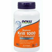 Neptune Krill Oil 60 Softgels 1000 mg by Now Foods best by 03/2021 - $21.71