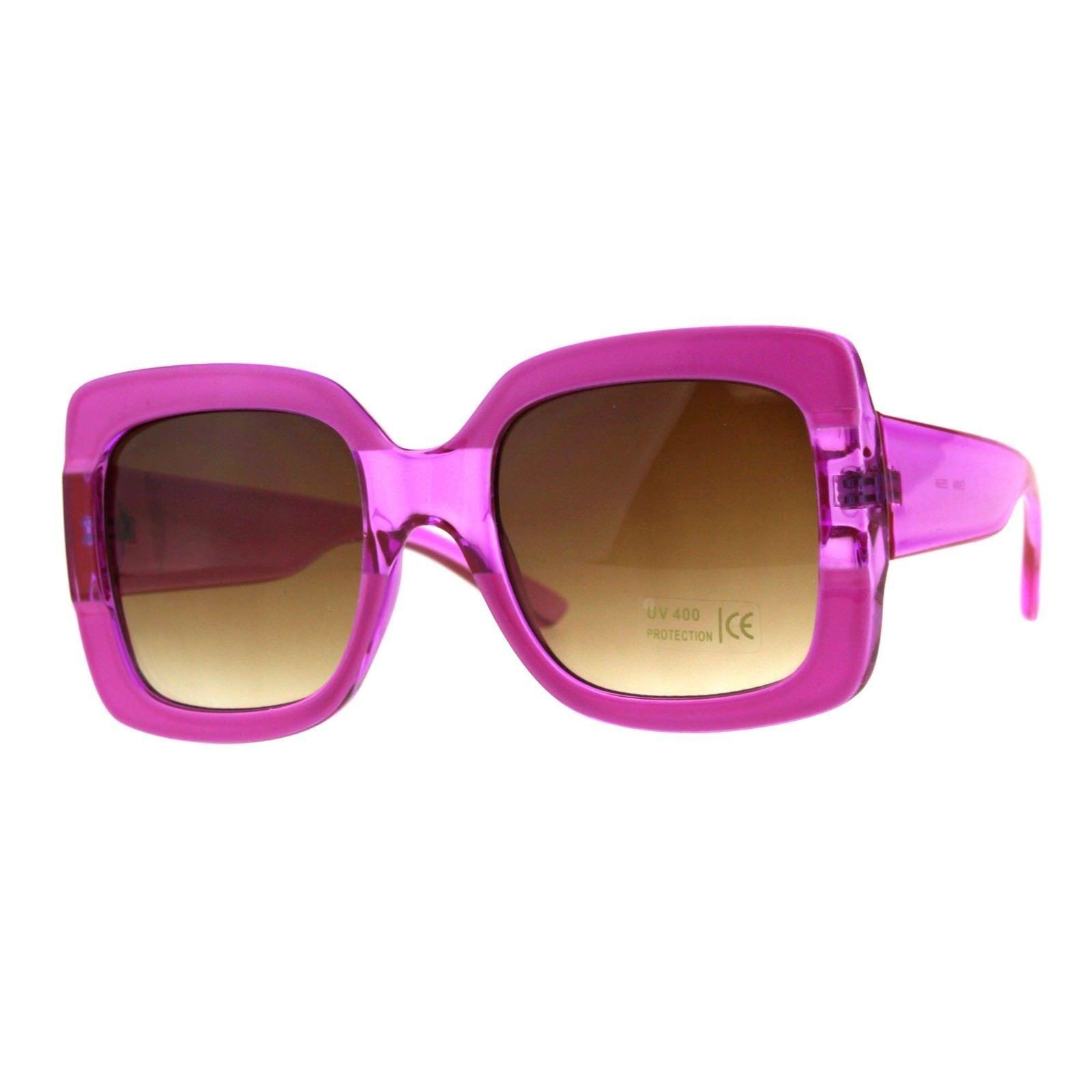 Womens Square Frame Sunglasses Oversized Fashion Shades UV 400