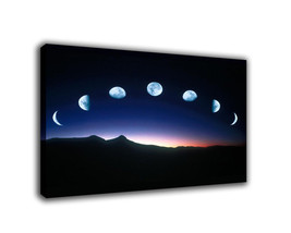 "Landscape Art Oil Painting Print On Canvas Modern Decor ""Phase Of The Moon"" - $15.81+"