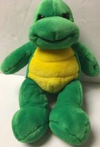 "Build A Bear Green Turtle Plush Stuffed Animal 14"" Tall Retired No Shell - $20.39"