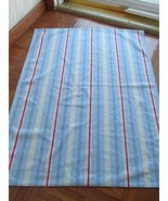 Carters Just One Year Red White Blue and Green Stripes Baby Blanket Lovie - $22.76