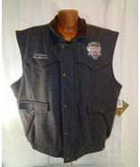 NFR National Finals Rodeo Schaefers Mens Gray South Point Casino Wool Vest - $98.01