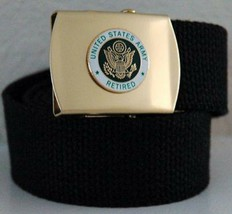 US Army Retired Black Belt & Buckle - $17.81