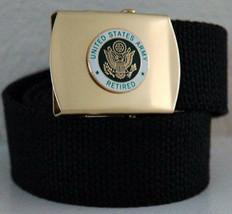 US Army Retired Black Belt & Buckle - $17.81