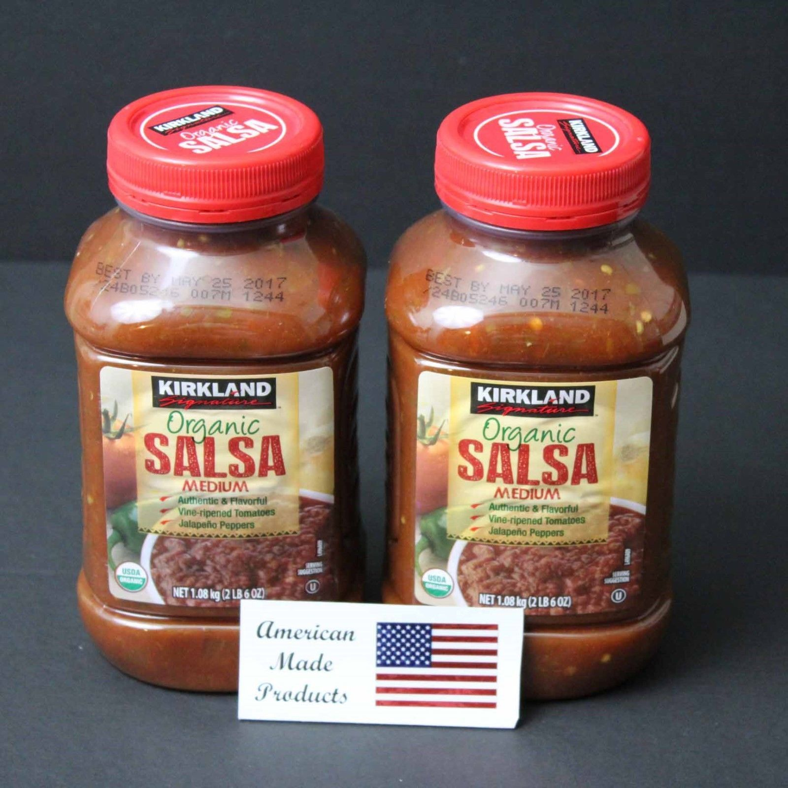 2 pack Kirkland Signature Organic Salsa Medium - $27.76