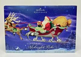 2005 Hallmark Santa's Midnight Ride Dash Away All Table Decoration U21 - $27.99