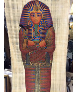 Vintage Hand Painted Papyrus Egyptian King Tut  Made In Egypt  and signe... - $49.00