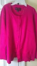 Women's Dana Buchman button down cardigan xs, lace back in pink size xs - $3.99