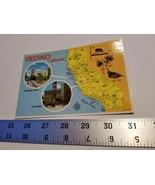 Fresno California Postcard Map Fulton Mall Colorscope Postal Card Home T... - $9.49