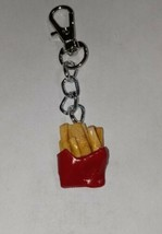 French Fries Keychain Accessory Food Charm Fast Food Fries - $7.00