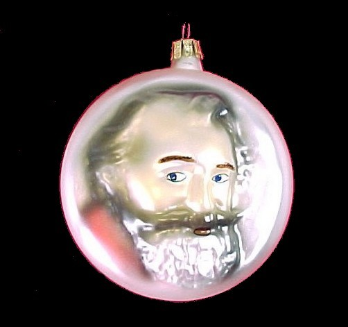 60911a blown glass christmas tree ornament classical music brahms