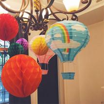 "40cm(16"") Foldable Rainbow Hot Air Balloon Paper Lantern With Basket Par... - $3.61"