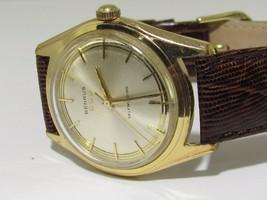 BEAUTIFUL BENRUS SWISS MADE WATCH SELFWINDING AUTOMATIC GOLD TONE WATERP... - $157.25