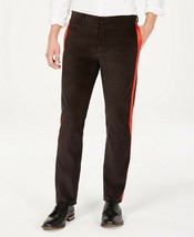 Calvin Klein Mens Velvet Stripe Casual Trouser Pants 30W X 32L Black - $39.99