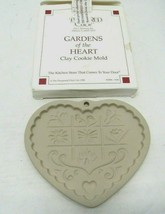 The Pampered Chef Gardens of The Heart Ceramic Cookie Mold 1996 Baking C... - $14.84